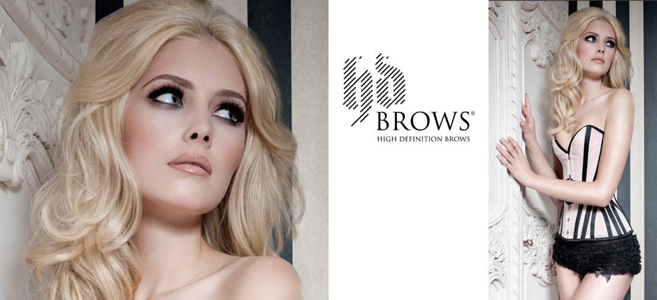 HD Brows model posing with HD Brows treatment