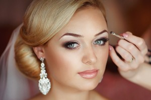 Woman have her wedding make-up applied by The Spa Therapy Room beauty therapist