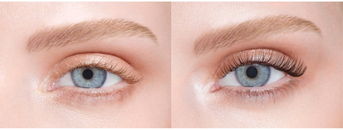 Nouveau LVL lash lift treatment. now at The Spa Therapy Room. Model showing before and after treatment